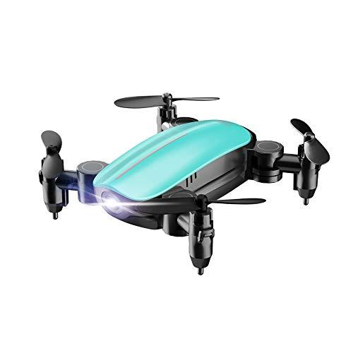 Drohne Quadrocopter Hubschrauber RC ,routinfly Mini 2.4G 6-Achsen Faltbarer RC Drohnen Höhenunterschied ohne Kamera Spielzeug Geschenk Kinder Erwachsene Anfänger (Blau, Ohne Kamera)