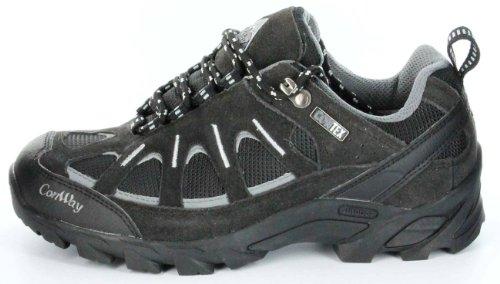 Conway Outdoor-Trekking-Wanderschuhe schwarz braun TEX-Membrane Herren Schuhe Nebraska Schwarz