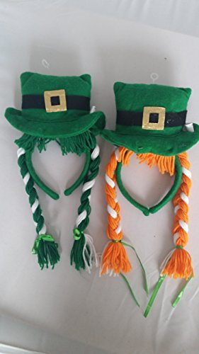 ST PATRICKS DAY IRISH LADIES FANCY DRESS COSTUME SET IRELAND SHAMROCK LEPRECHAUN ACCESSORIES (Headband Hat with Plaints) by Mega_Jumble (St Day Kostüme Patricks Womens)