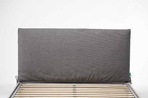 Cangù soffy trapunta testata, tortora, 160 x 190 matrimoniale