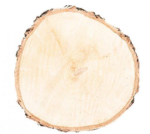 Nadeco birkenscheibe 20 30cm x 2 3cm holzscheibe for Birkenholz deko