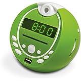 Metronic 477017 Gulli Radio-Réveil Enfant  MP3 USB Projection 180° - Vert