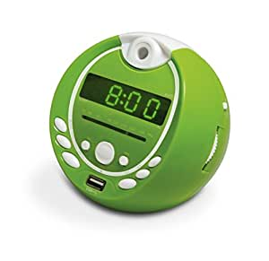 Metronic 477017 Gulli Radio-Réveil Enfant  MP3 USB Projection 180° - Vert