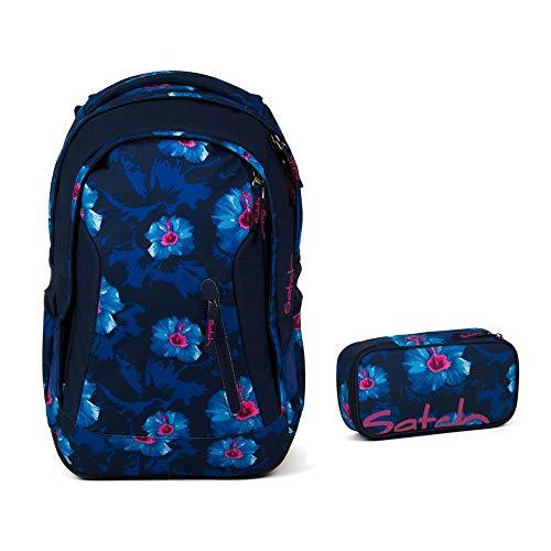 Satch Schulrucksack-Set 2-TLG Sleek Waikiki Blue blau