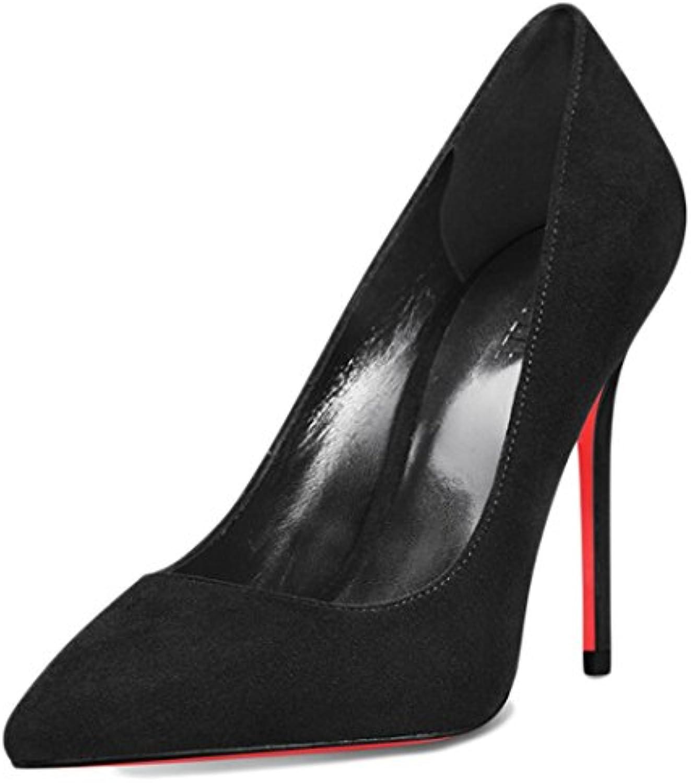 RENHONG Frauen Sommer Frühling Stöckelschuhe Schwarz 10 Cm Spitze Mode Sexy Hochhackigen Sandalen Kleider Bankettö