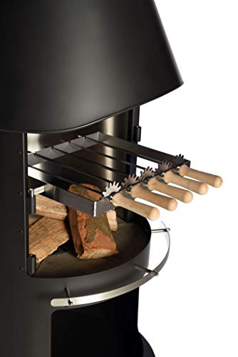 Firestar Grillspieße mit Zahnrädern für DN 700/800 Gartenkamin, Edelstahl - Grill Zahnräder