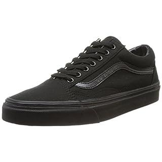 Vans Old Skool, VD3HBKA,  Unisex-Erwachsene Sneakers, Schwarz (black/black (canvas), 45 EU