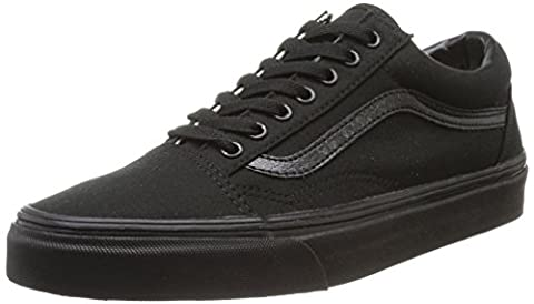 Vans Old Skool , Unisex-Adults' Low-Top Trainers, Black/Black Canvas,6 UK,