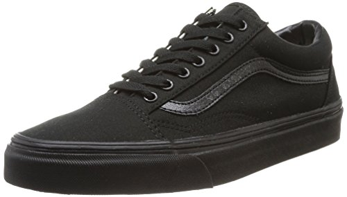 Vans Old Skool Leather Sneaker Unisex Adulto Nero Black/Black Canvas 39