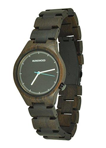 Munixwood Holzarmbanduhr Business Sandelholz mit Uhrenbox Holzuhr