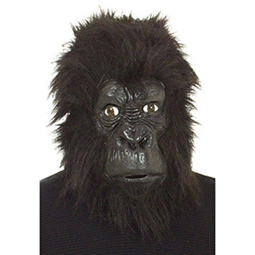 NET TOYS Affenmaske Maske Gorilla Affe King Kong Fasching Gorillamaske Affen Kostüm Zubehör Verkleidung Outfit