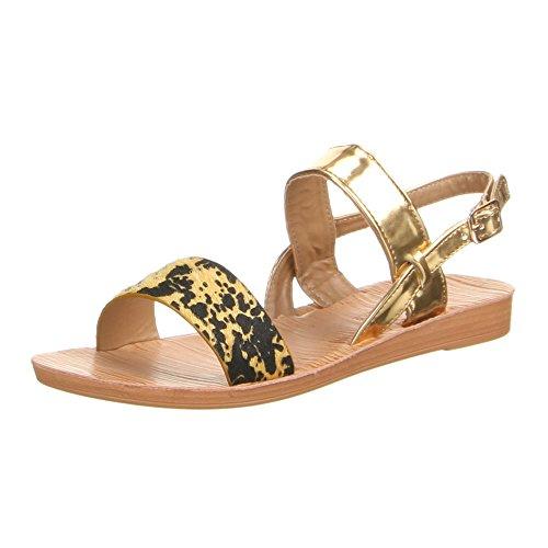 Chaussures, jK - 12, sandales Jaune - Gelb Gold