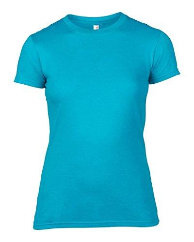 Anvil -  T-shirt - Donna Caribbean Blue