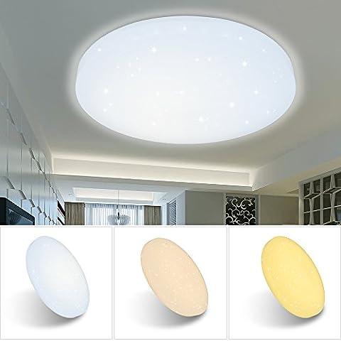 VINGO® 50W LED Wand-Deckenleuchte Farbwechsel rund Deckenlampe Starlight Effekt Modern Schlafzimmer Kinderzimmer (Große Wand-dekor)