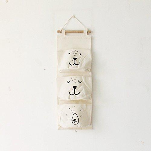 zantec Storage Bag 3der Tasche Halbkreis Wand hängende Aufbewahrung Taschen Organizer Closet Kinder Room Organizer Aufbewahrungstasche Bag beige (Vinyl-anzug-tasche Klare)