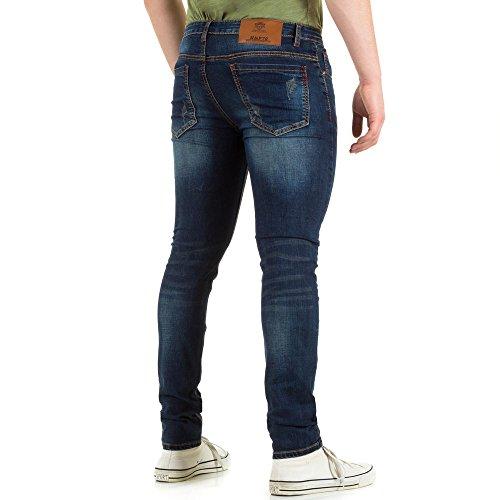 Herren Jeans, DESTROYED STERTCH SKINNY, KL-H-NP131 Blau