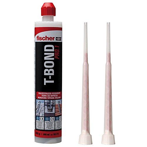 Fischer 71778Dübel chemischen Kunstharz Hybrid, Anker mit Injektion Komponenten Hybrid für gerissener Beton und Mauerwerk, grau (Injektion Plus)
