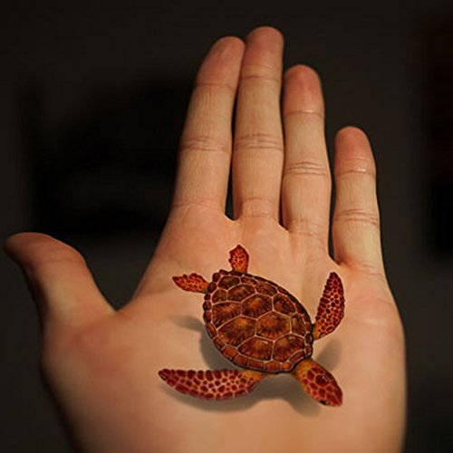 tafly-transfer-tattoo-3d-fish-turtle-reptile-body-art-stickers-5-sheets