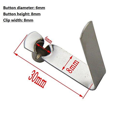 50?Single Button Clips Kajak Paddel Snap Spring Clip Zeltstange Clips(Button diameter 6mm single pin) (Snap Spring Steel)