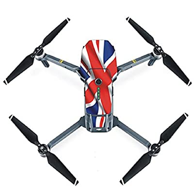 OLD TEUCER Fashion Scratch-Resistant Helicopter Drone PVC Skin Protective Sticker Decal For DJI Mavic Pro -UK Flag