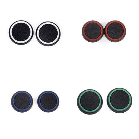webest PS4Tastenkappe Nachtlicht Button Gap gemeinsamen Griff Rocker Gap Blackandwhite