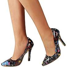 dfe5a8aea1a Bombas Zapatos De Tacón Alto Fino Mujer Sexy Elegante Chic De Boda Fiesta  De Vestir Bailarinas