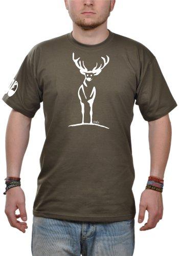 T-Shirt Herren Eidos Rotwild - khaki L