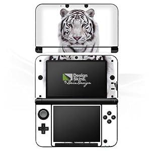 Nintendo 3 DS XL Case Skin Sticker aus Vinyl-Folie Aufkleber Schneetiger Weißer Tiger
