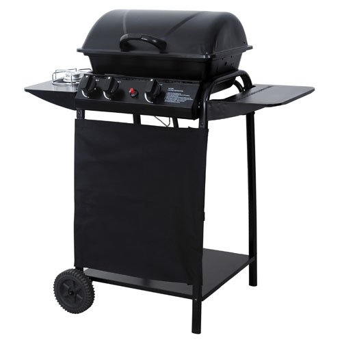 PAPILLON-Barbecue-A-Gas-Griglia-Cromata-Accensione-Piezoelettrica-Con-2-Ruote