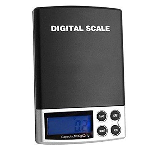 ktronische Taschen Digital Skalen 1000g / 0.1g Lcd Anzeigen beweglicher Schmucksache Gramm (Schritt 2 Blaue Wagen)
