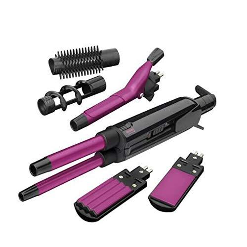 Lockenwickler, Haarglätter, Heißluftbürste, Glätteisen-Turmalin-Keramik, Dual-Voltage-Reiseeisen für weltweiten Haarglätter