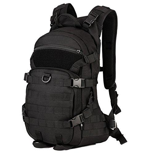 Huntvp Tactischer Militarischer MOLLE Rucksack Student Daypack Erwachsene Schulrucksäcke Wasserdicht Multifunktional Trekkingrucksack für Outdoor Sports 25L (Herren-schiebe-kurz)