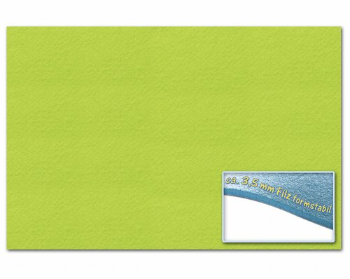 folia 510351 – Bastelfilz 30 x 45 cm, ca. 3,5 mm, 1 Bogen, hellgrün