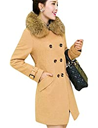 720b7b86850d4 COCO clothing Lungo Cappotto Donna Caldo Ragazza Parka Jacket Lana Inverno  Taglia Unica Trench Cardigan Coat Slim Fit Pelliccia Finta Collo…