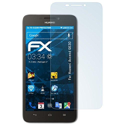 atFolix Schutzfolie kompatibel mit Huawei Ascend G630 Folie, ultraklare FX Bildschirmschutzfolie (3X)