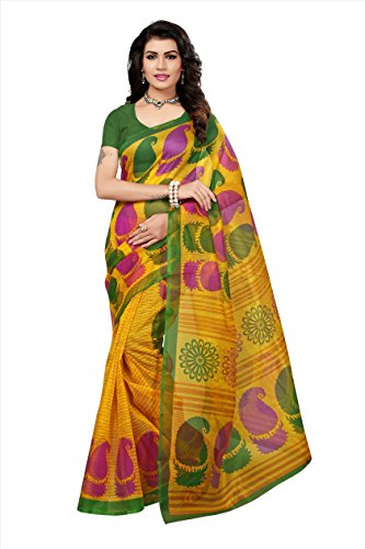 sarees sarees saree sarees saree sari sadi saree below 500 today offers Fabwomen Sarees for Women Latest Design Sarees New Collection 2018 Sarees below 1000 Rupees 500 Rupees Sarees for Women Partywear Latest Design Wedding Collection Sarees for Women below 500 Latest sarees for Women Party wear Offer Designer Sarees Saree Combo Sarees New Collection Today Low Price (Yellow And Green)  available at amazon for Rs.250