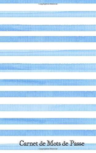 Carnet de Mots de Passe: A5 - 98 Pages - 08 - Lignes Bleues - Watercolor - Mer par Mes Mots de Passe Horko