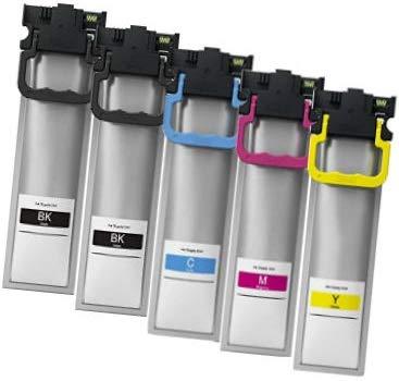 Printing Saver T9451-T9454 (T945) SCHWARZ (2) Cyan (1) Magenta (1) GELB (1) Tintenpatronen kompatibel für Epson Workforce Pro WF-C5210DW WF-C5215DW WF-C5290DW WF-C5710DWF WF-C5790DW WF-C5790DWF - 1 Magenta Tintenpatrone