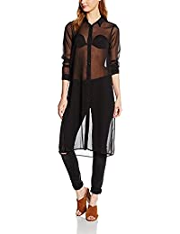 Vero Moda Vmtenna L/S Long Shirt LCS, Blusa para Mujer