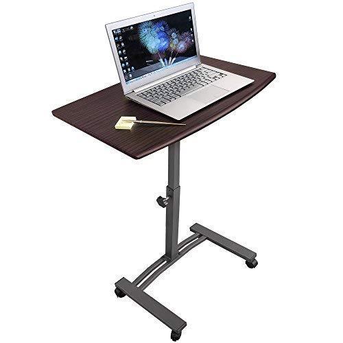Tatkraft Salute Escritorio de Pie Móvil para Ordenador Portátil | Mesa Auxiliar de Sofa de Altura Ajustable 52-84 cm | Soporte Laptop con Ruedas de Bloqueo