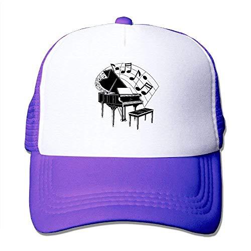 Preisvergleich Produktbild Piano Music Cartoon Mesh Trucker Caps / Hats Adjustable for Unisex Black