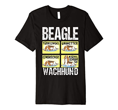 Lustiges Beagle Hund T-Shirt Beagle Wachhund T-Shirt