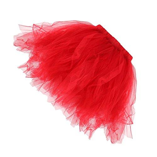 Sharplace tutu damen tutu mädchen Ballettröckchen Röcke Prinzessin - Rot, (Erwachsene Tutus Für Rote)