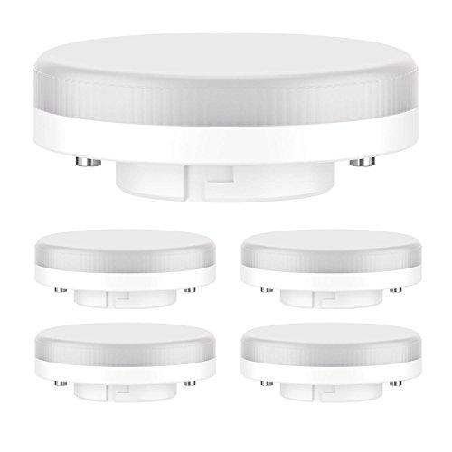 ledscom.de GX53 LED Lampe 6.3W=40W 450lm 100° warm-weiß, 5 STK.
