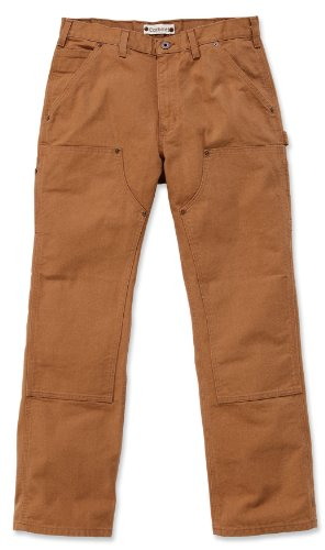 Carhartt EB136 Double Front Work Jeans schlanke B01 Herrenhose (W36/L34, carhartt-braun) (Denim, Jeans Canvas,)
