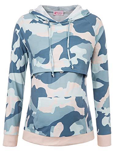 Maacie Schwangere Umstandskleidung Sweatshirt Langarmshirt Hoodie Stillpullover L MC1039-6