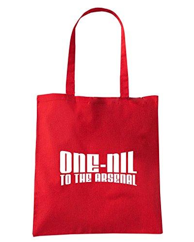T-Shirtshock - Borsa Shopping WC0189 ARSENAL T-SHIRT - ONE-NIL TO THE ARSENAL Rosso