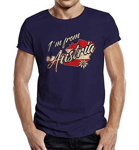 T-Shirt Herren BLAU - Österreich - I am from Austria (XL)