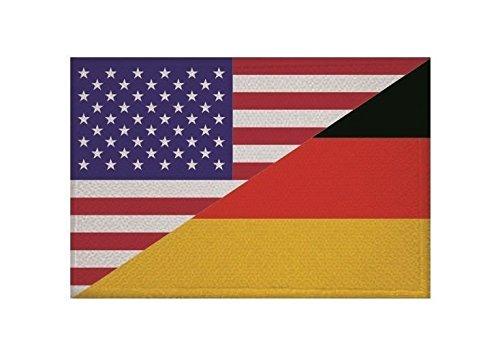 U24 Aufnäher USA-Deutschland Fahne Flagge Aufbügler Patch 9 x 6 cm - 6x9 Usa-flagge