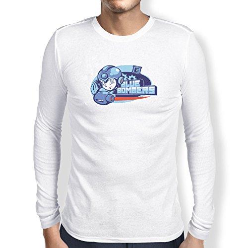 TEXLAB - Blue Bombers - Herren Langarm T-Shirt, Größe S, weiß